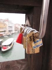 Love padlocks in Venice