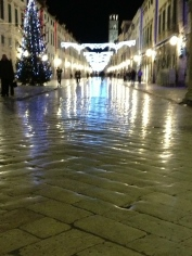 Dubrovnik's marble streets.