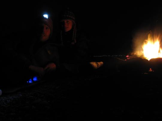 Happy 2013! We see in the new year with a fire on a deserted beach.