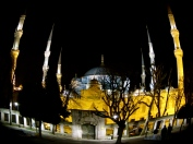 The Blue Mosque by night