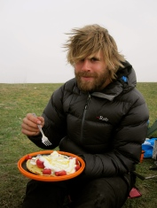 And the prize for the most elaborate breakfast in the most remote location goes to...