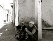 085 'Women on Khiva Street Corner' - Uzbekistan