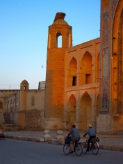 095 'Sunset Cyclists' - Bukhara, Uzbekistan