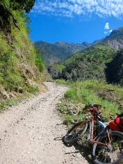 Following the newly built jeep trail makes the route accessible to bikes.