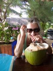 Pete's mum and her extravagant coconut!