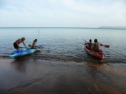 Sea kayaking adventures (well a jaunt to the next bar)